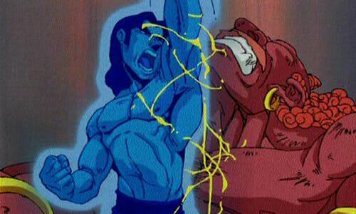 Batara fights monster