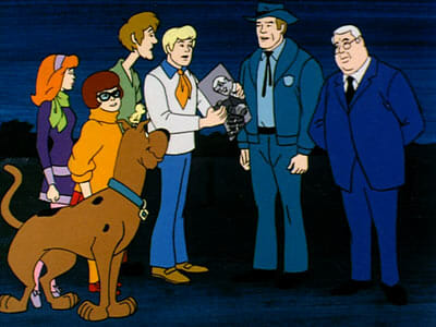 Scooby gang with unmasked Creeper