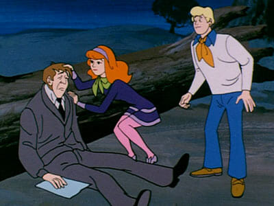 Daphne and Fred with man