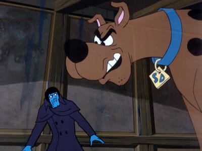 Scooby scares the ghost