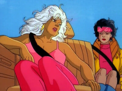 Storm and Jubilee in car