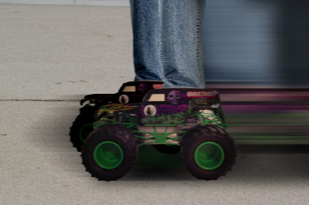 Glenn's monster truck feet