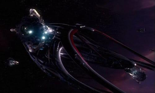 Andromeda with Castalian ships