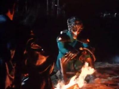 Barlock and Ryusei campfire