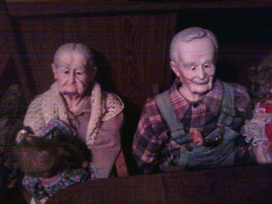 elderly couple dolls