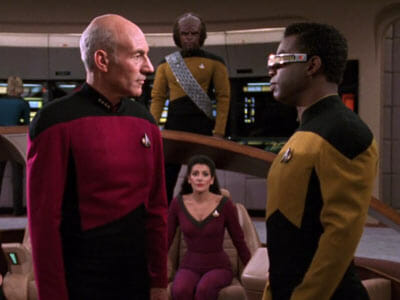 Picard and Geordi
