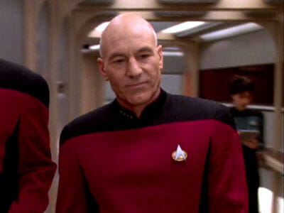 Picard embarrassed