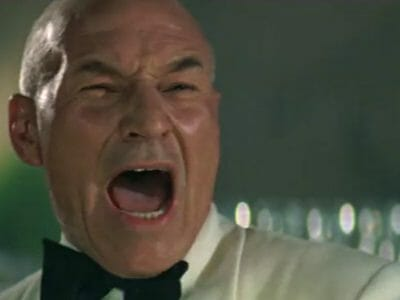 Picard yelling