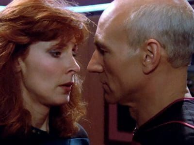 Picard and Dr. Crusher