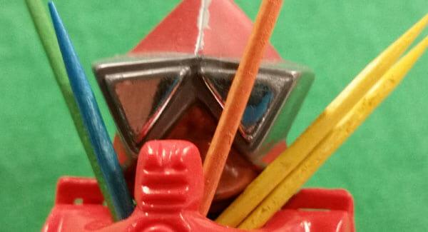 Multicolored toothpicks in Mekaneck