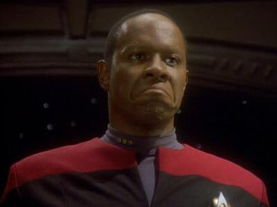 Sisko frowning