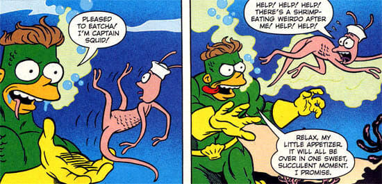 Captain Squid hungry for sea monkeys