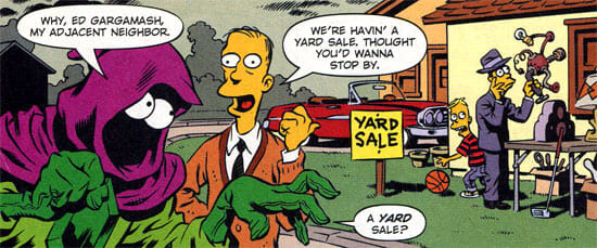 Plasmo hears about a yard sale