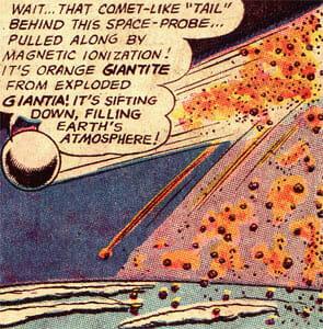 Giantite landing on Earth