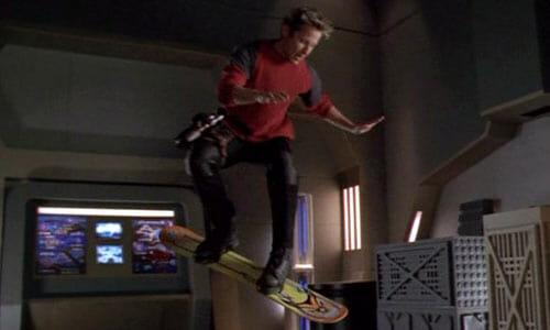 Harper on hoverboard