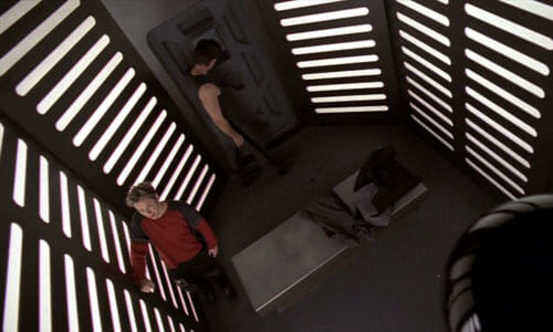 Harper and Hunt in cell