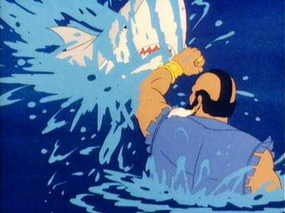 Mr. T punches a shark