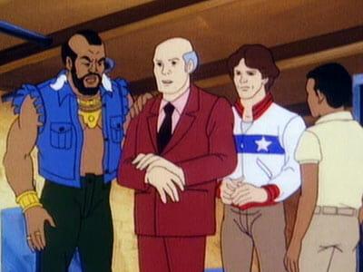 Mr. T, Patrick Stewart, Jeff, and Woody