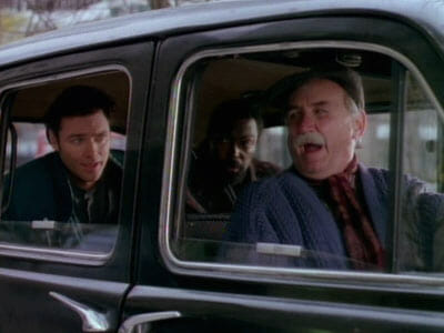Jake and Sid in taxi