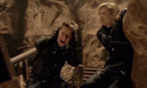 Haper and Beka in cave