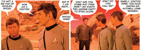 McCoy and Spock in flashback