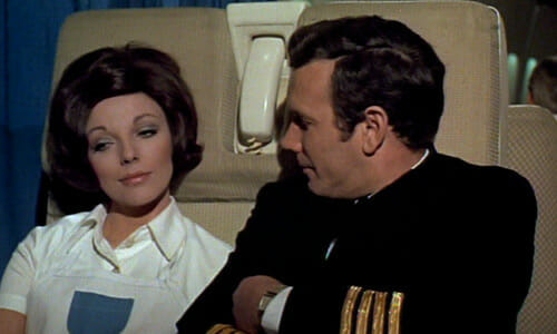 Tracy in airplane