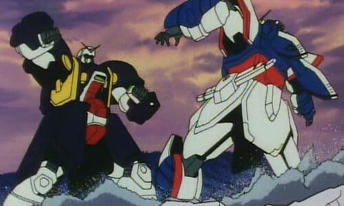 Bolt Gundam fights Shining Gundam