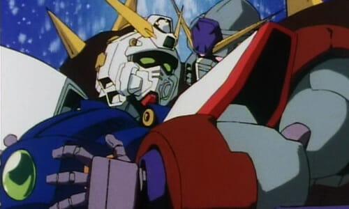 Lumber Gundam squeezing Shining Gundam