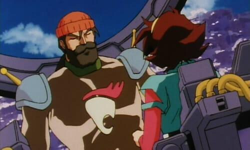 Andrew and Rain in Lumber Gundam