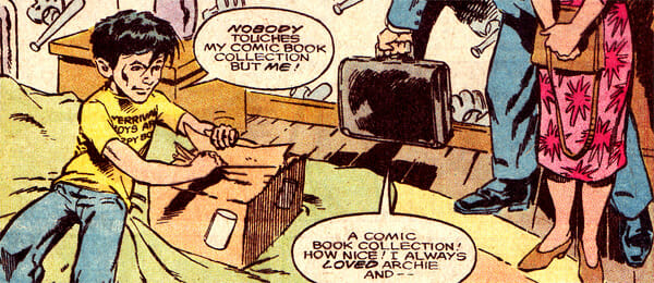 Alfie opening comic box