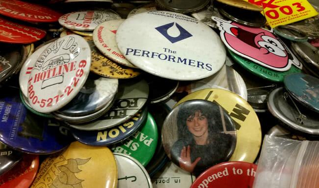 Assortment of weird buttons