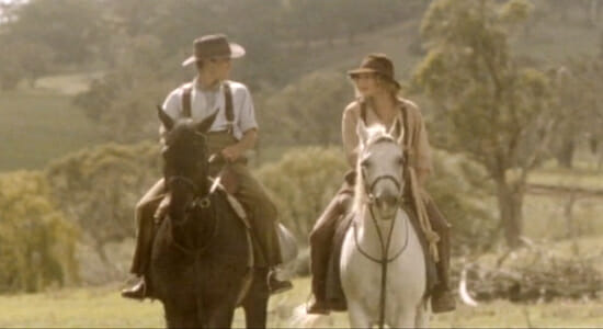 Jack and Jessica on horses