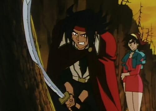 Domon with rusty sword