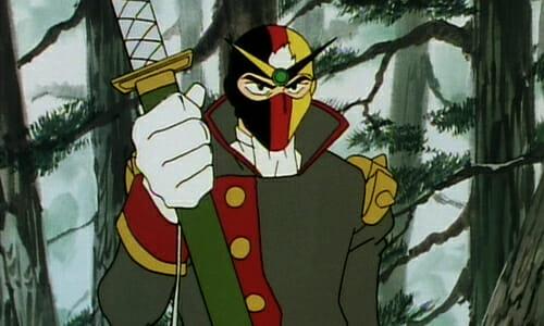 Schwarz holding sword
