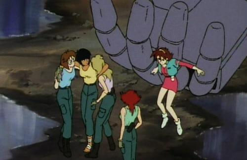 Spiegel Gundam rescuing crew