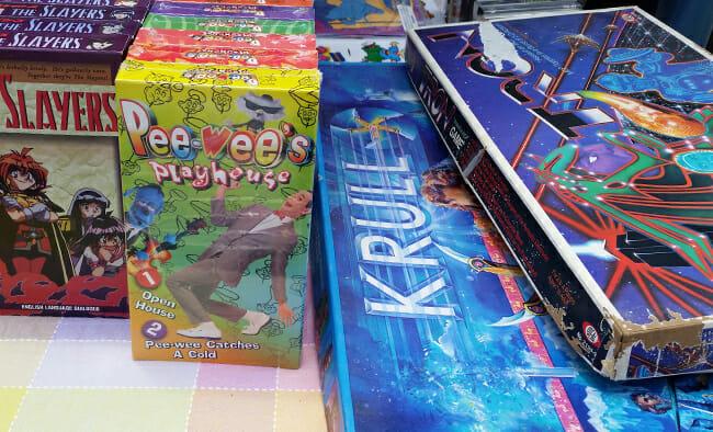 Slayers, Pee Wee's Playhouse, board games