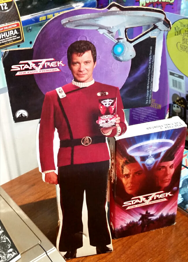 Star Trek V Captain Kirk stand-up