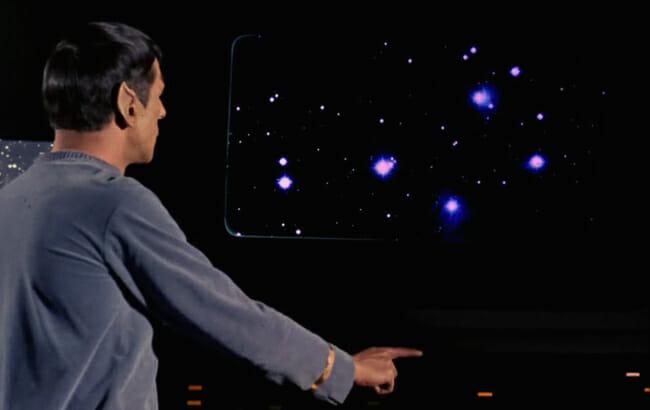 Spock waving his hand
