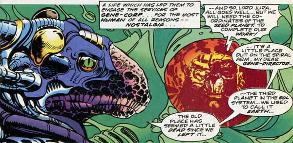 Dinosaur cyborg