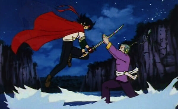 Domon fighting Master