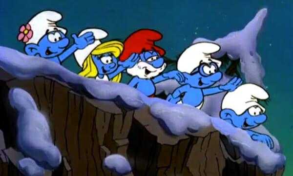 Smurfs waving