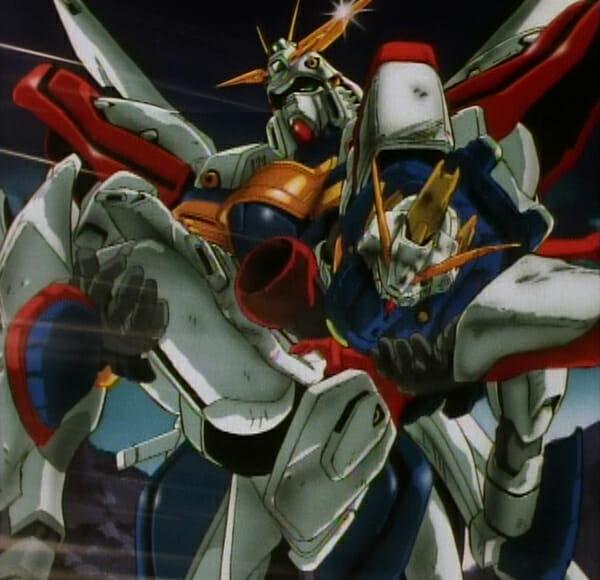God Gundam holding Shining Gundam