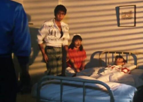 Ryusei, Hakko, Mai, with girl in hospital