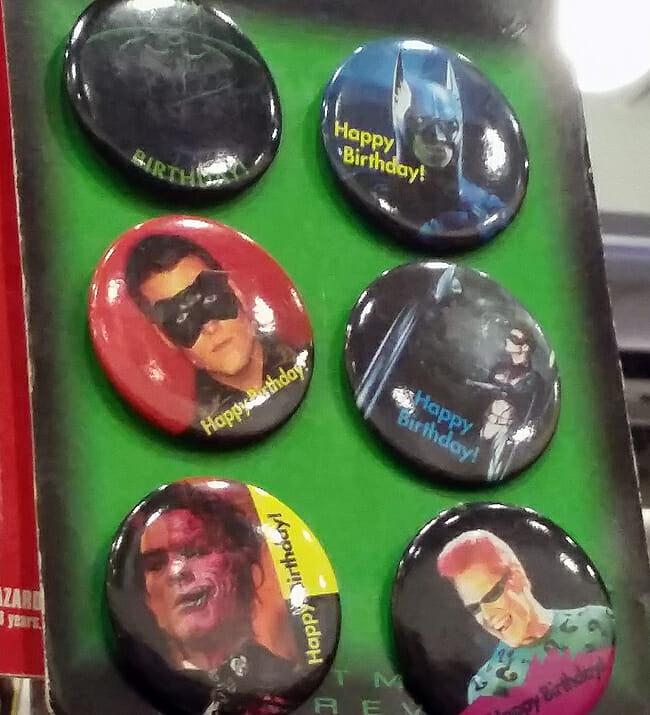 Batman Forever Birthday buttons