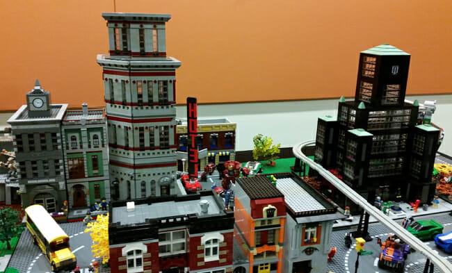 LEGO city building tops