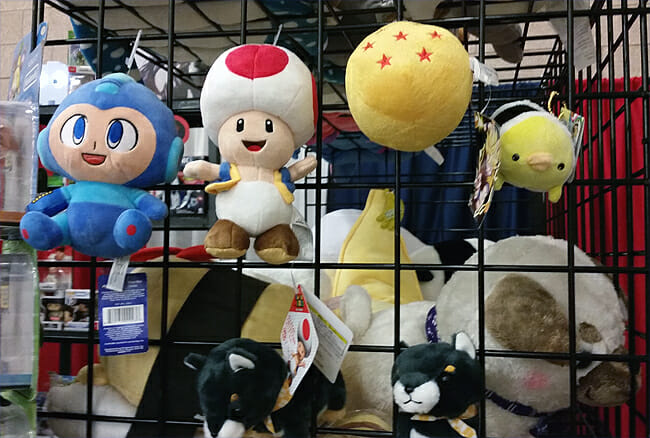 Mario, Toad, Dragon Ball plush