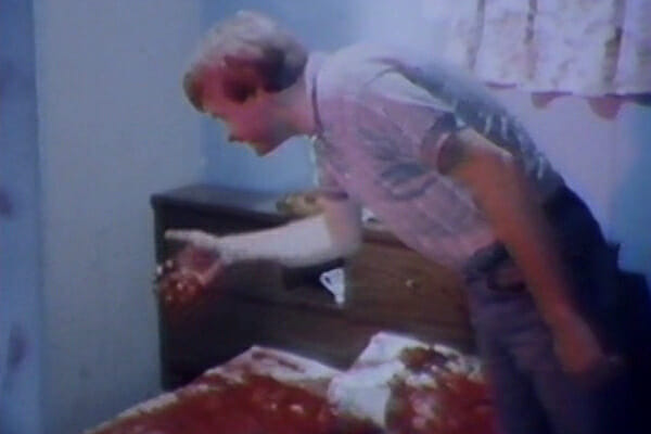 Dr. Lucas touching bloody bed