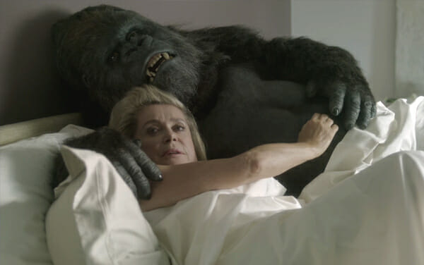 Apostle in bed with gorilla