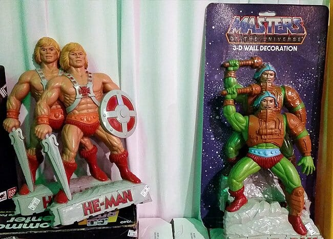 He-Man and Man-at-Arms wall decorations