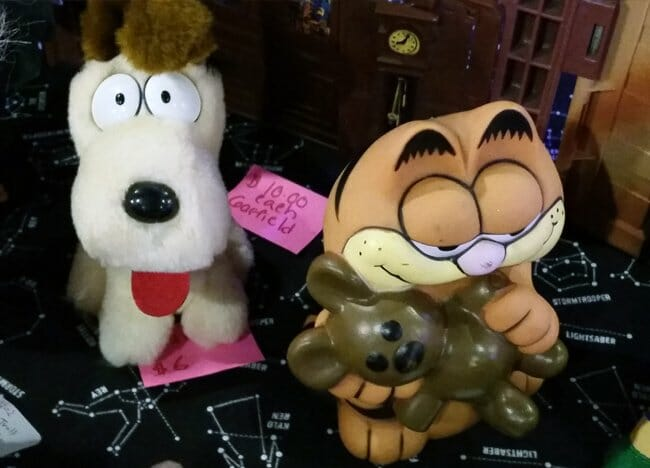 Odie and Garfield toys